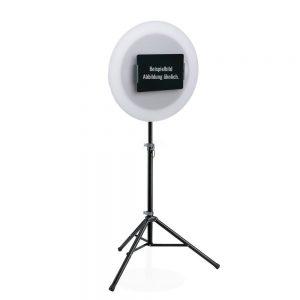 Fotobox Dreibeinstativ mit iPad