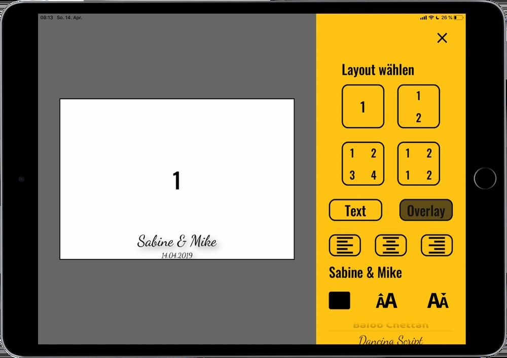 Fotobox kaufen App Kartendesigner