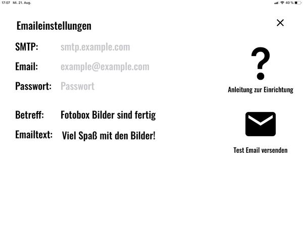 email versand fotobox
